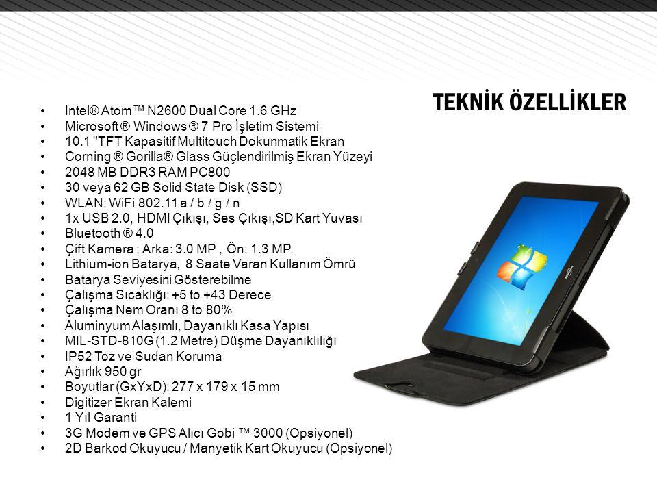 TEKNİK ÖZELLİKLER Intel® Atom™ N2600 Dual Core 1.6 GHz
