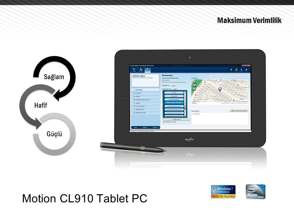 Maksimum Verimlilik Sağlam Hafif Güçlü Motion CL910 Tablet PC