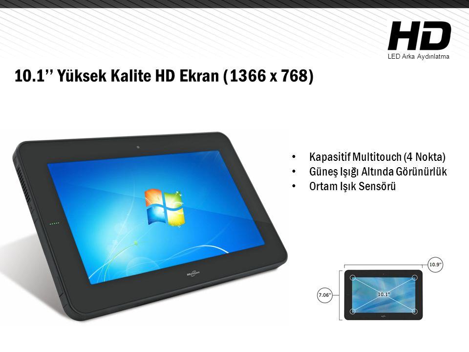 10.1'' Yüksek Kalite HD Ekran (1366 x 768)