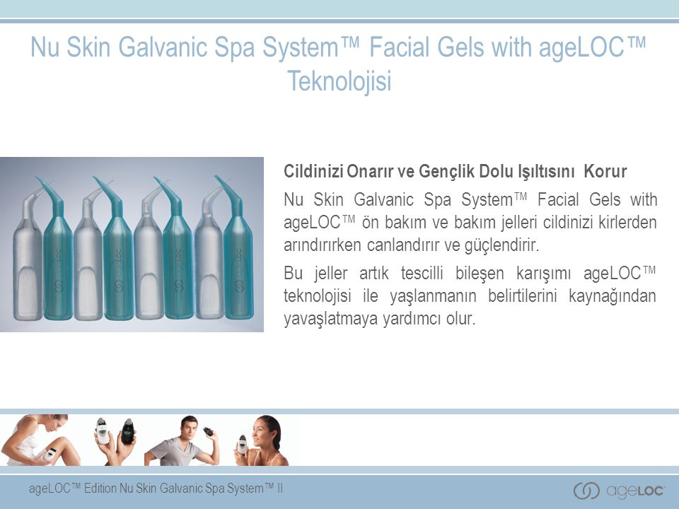 Nu Skin Galvanic Spa System™ Facial Gels with ageLOC™ Teknolojisi