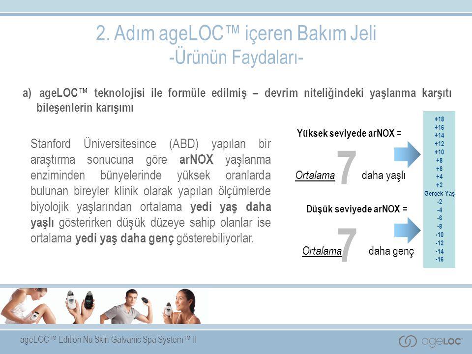 7 2. Adım ageLOC™ içeren Bakım Jeli -Ürünün Faydaları-