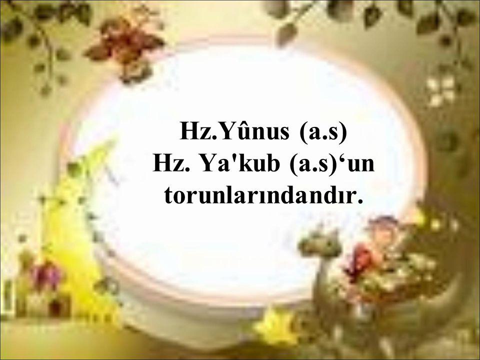 Hz.Yûnus (a.s) Hz. Ya kub (a.s)'un torunlarındandır.