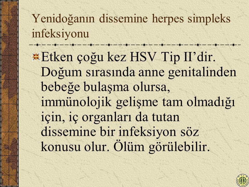 Yenidoğanın dissemine herpes simpleks infeksiyonu