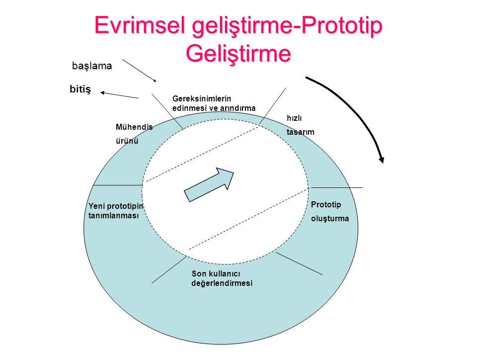 Evrimsel geliştirme-Prototip Geliştirme