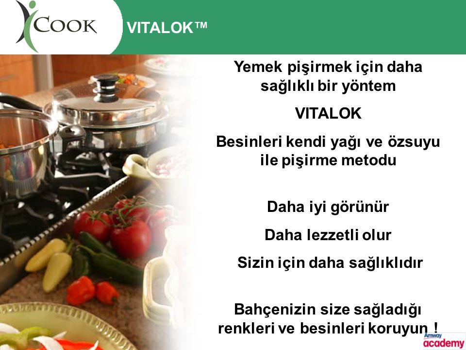Yemek pişirmek için daha sağlıklı bir yöntem VITALOK