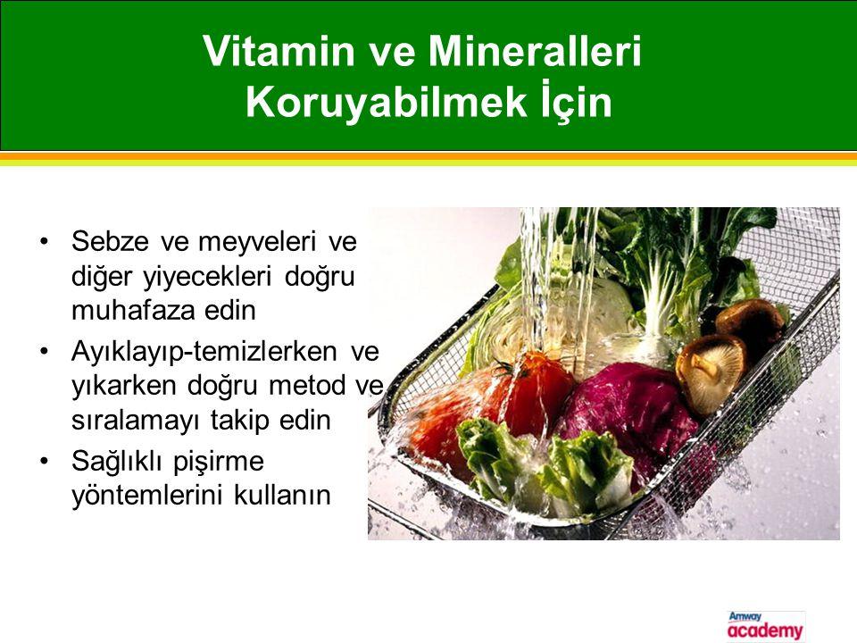 Vitamin ve Mineralleri