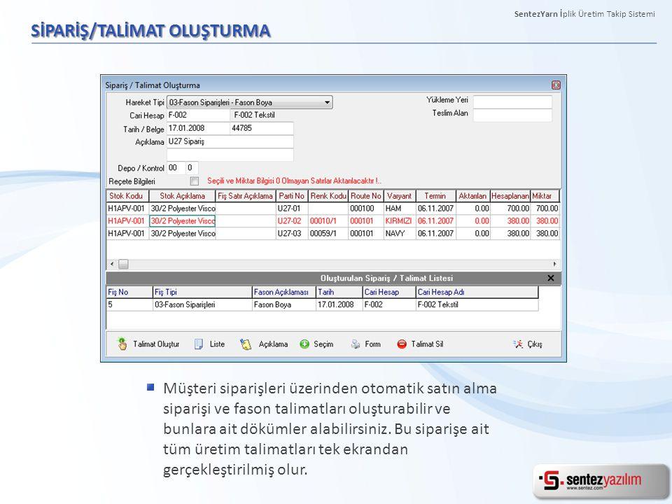 SİPARİŞ/TALİMAT OLUŞTURMA