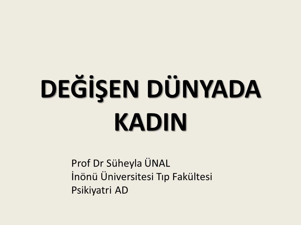 DEĞİŞEN DÜNYADA KADIN Prof Dr Süheyla ÜNAL