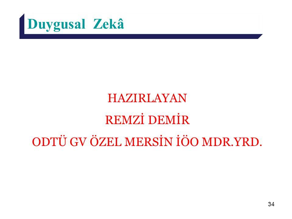 ODTÜ GV ÖZEL MERSİN İÖO MDR.YRD.
