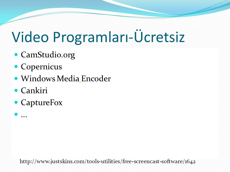 Video Programları-Ücretsiz