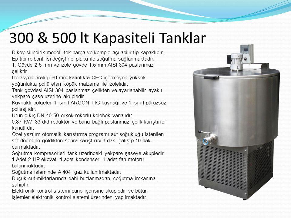300 & 500 lt Kapasiteli Tanklar
