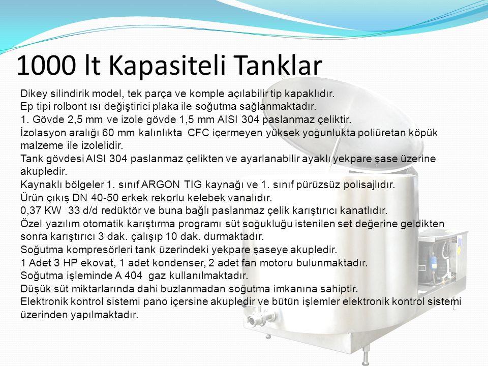 1000 lt Kapasiteli Tanklar