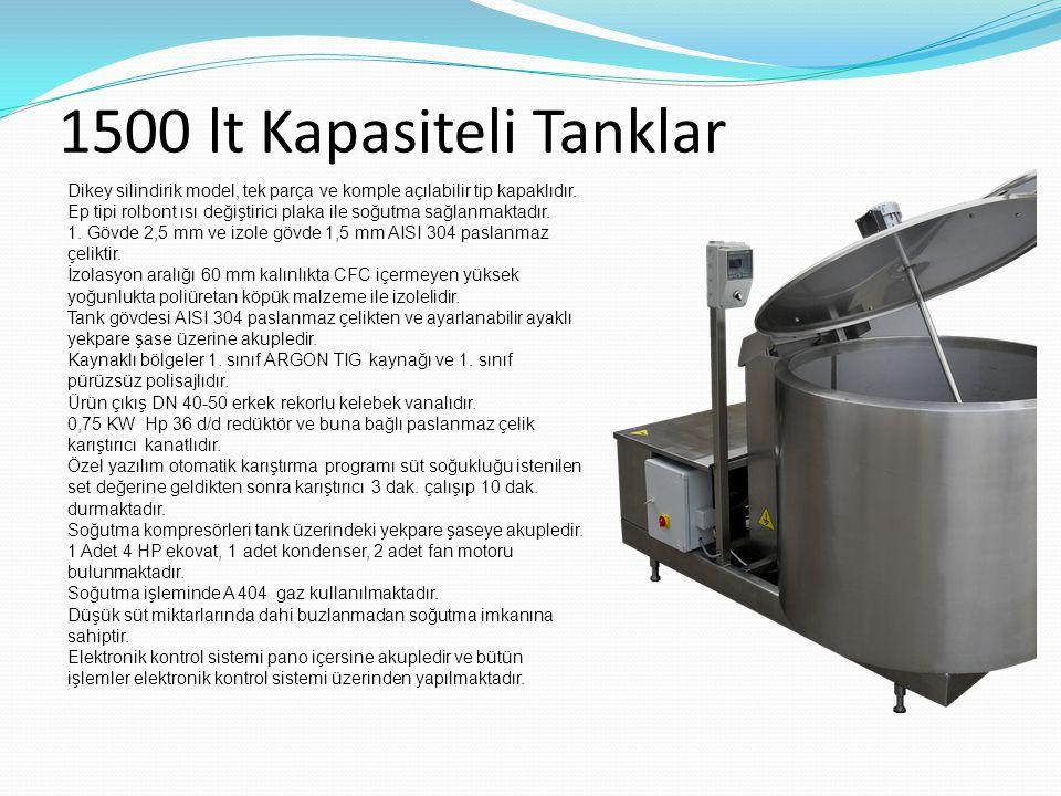 1500 lt Kapasiteli Tanklar