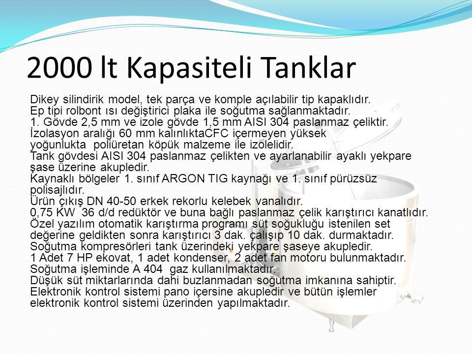 2000 lt Kapasiteli Tanklar