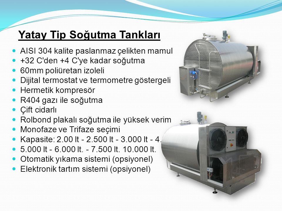 Yatay Tip Soğutma Tankları
