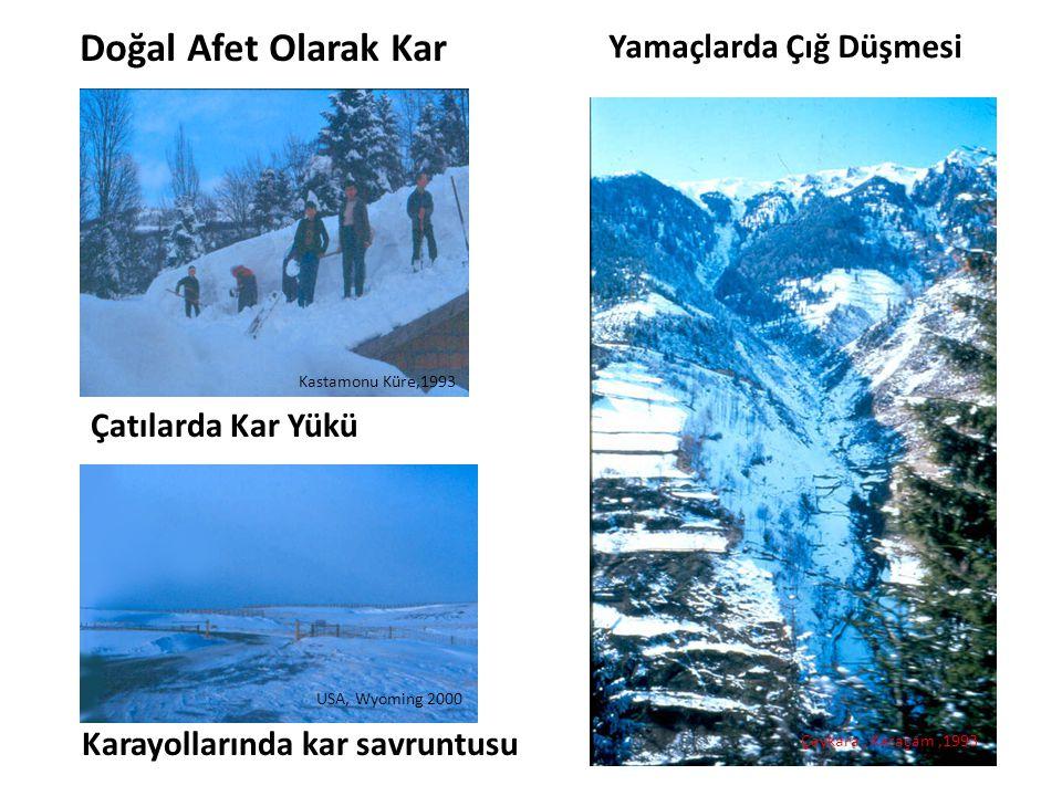 Doğal Afet Olarak Kar Yamaçlarda Çığ Düşmesi Çatılarda Kar Yükü