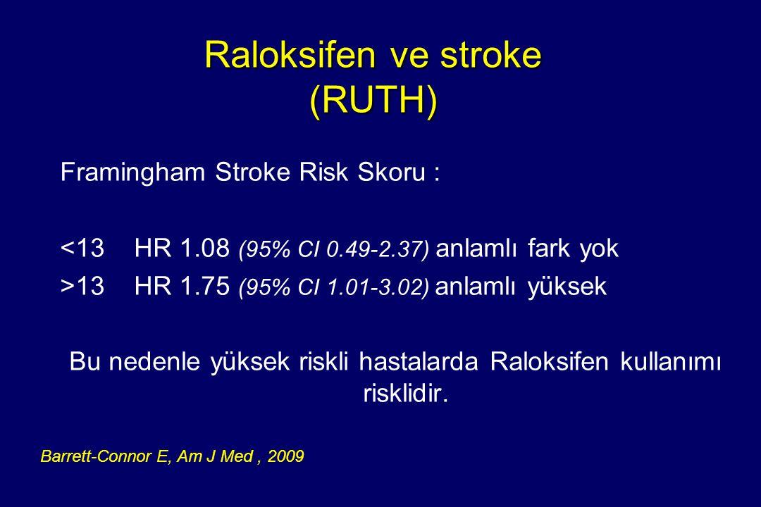 Raloksifen ve stroke (RUTH)