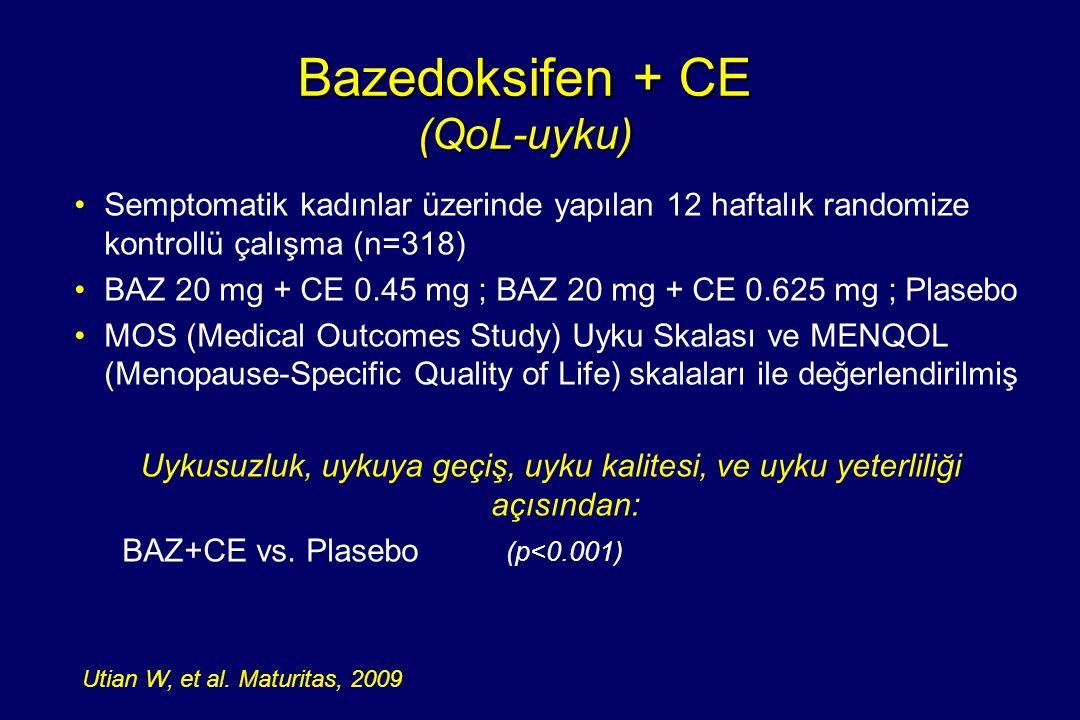 Bazedoksifen + CE (QoL-uyku)