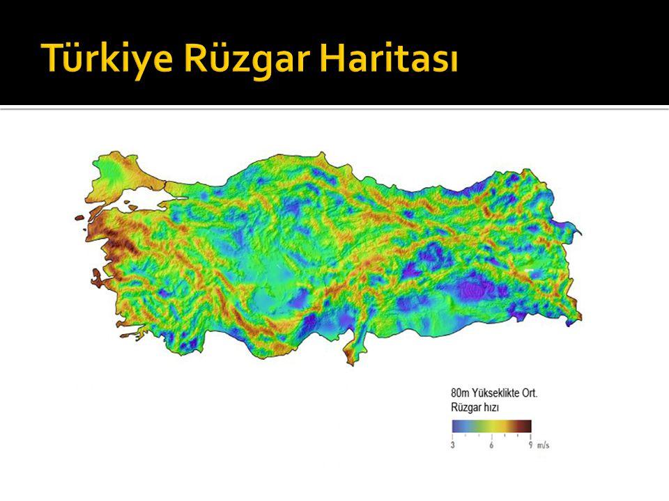 Türkiye Rüzgar Haritası