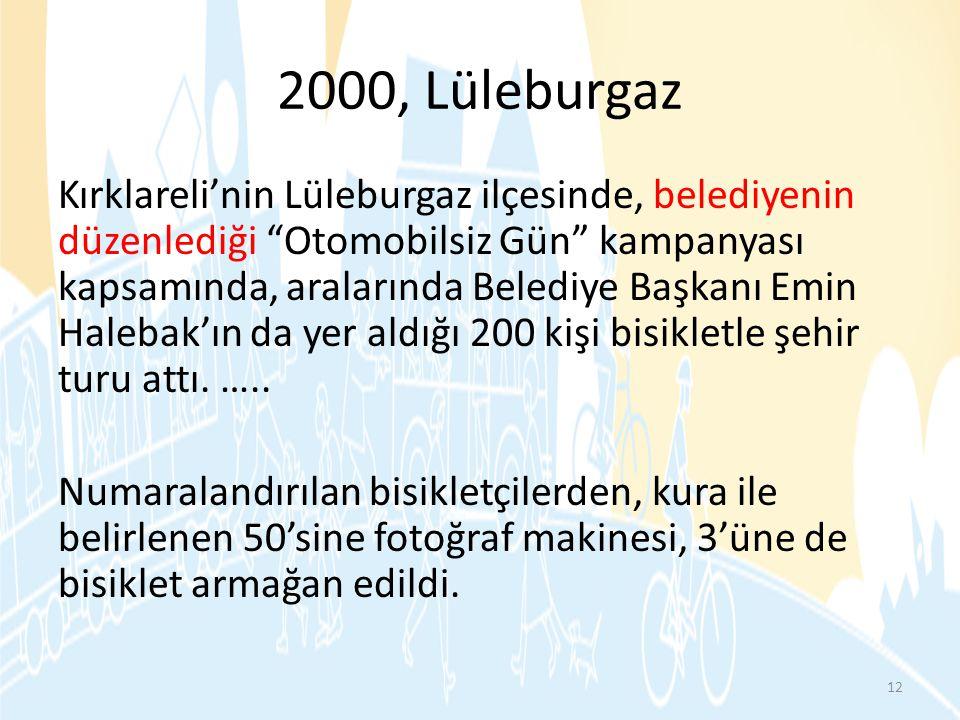 2000, Lüleburgaz