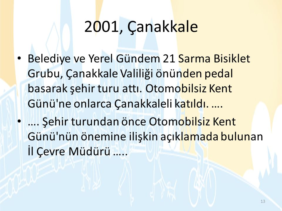 2001, Çanakkale