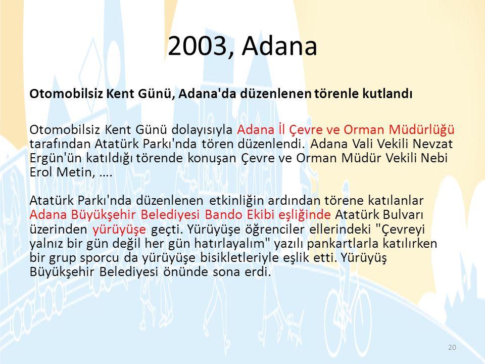 2003, Adana