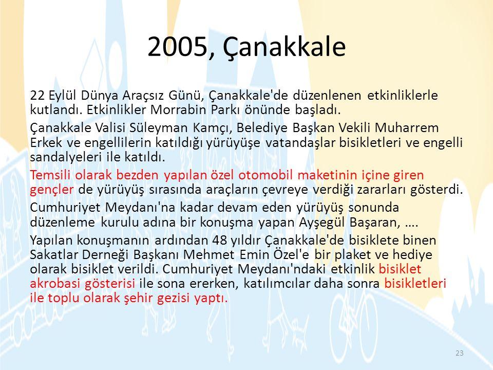 2005, Çanakkale