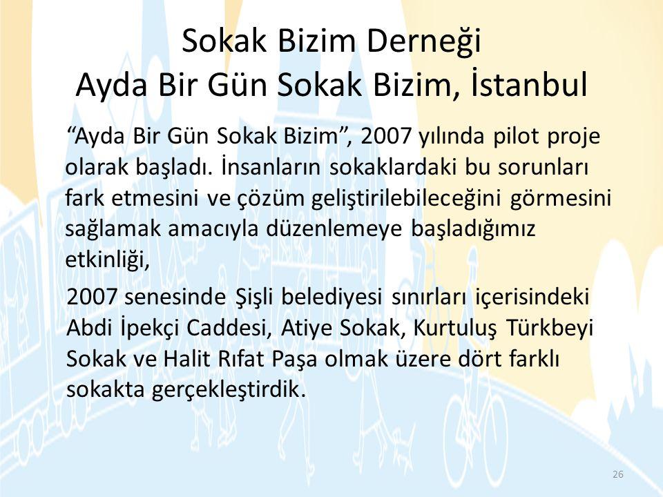 Sokak Bizim Derneği Ayda Bir Gün Sokak Bizim, İstanbul