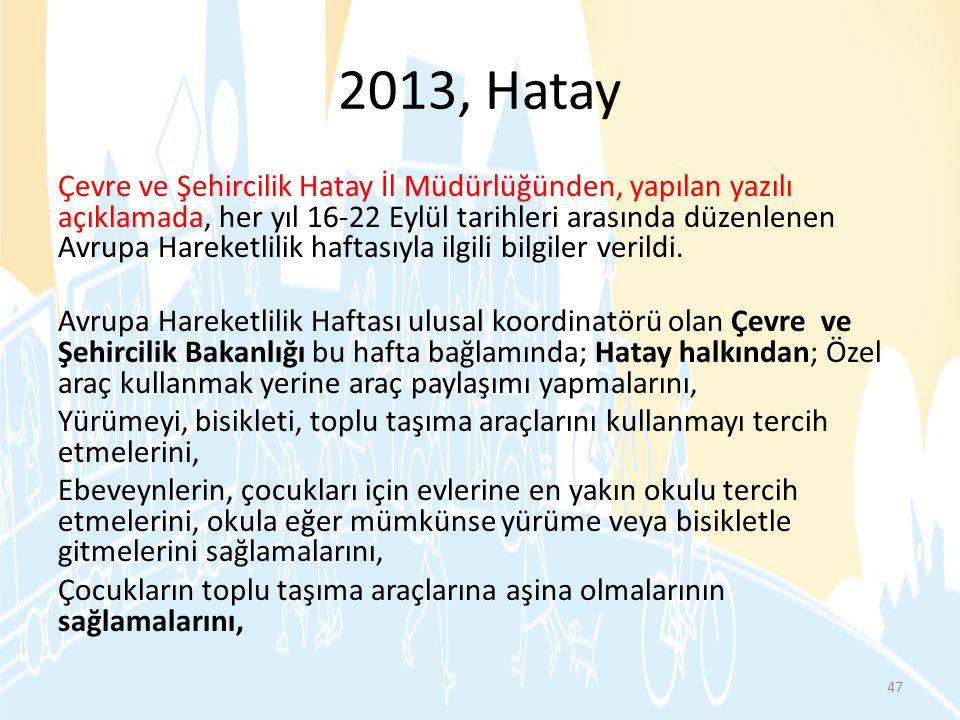 2013, Hatay