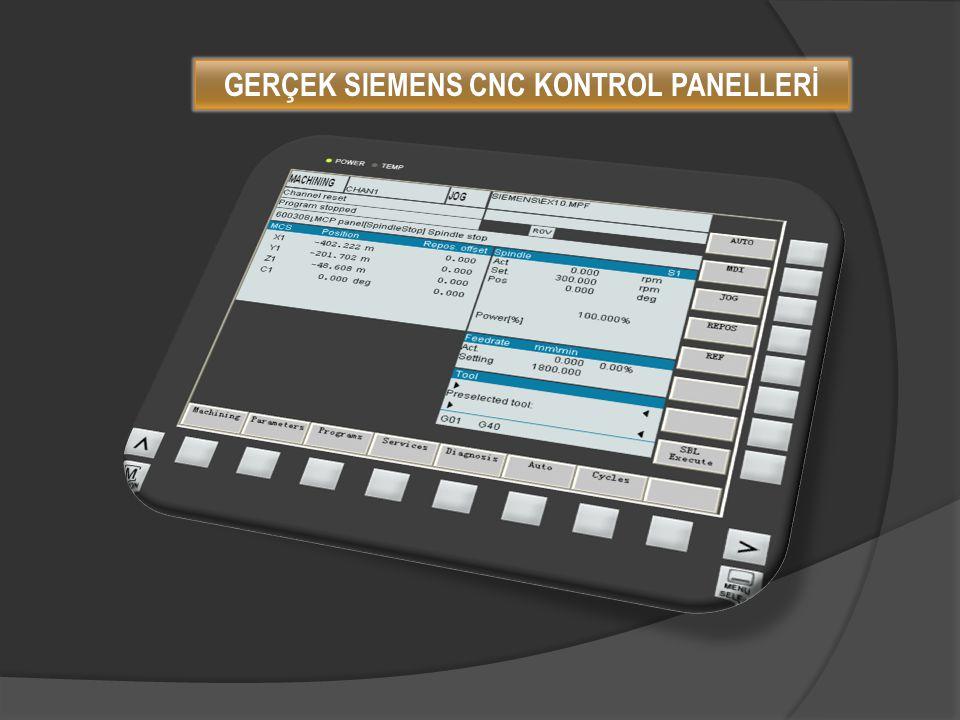 GERÇEK SIEMENS CNC KONTROL PANELLERİ