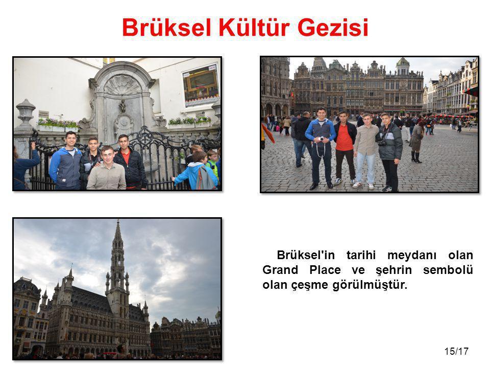 Brüksel Kültür Gezisi Brüksel in tarihi meydanı olan Grand Place ve şehrin sembolü olan çeşme görülmüştür.