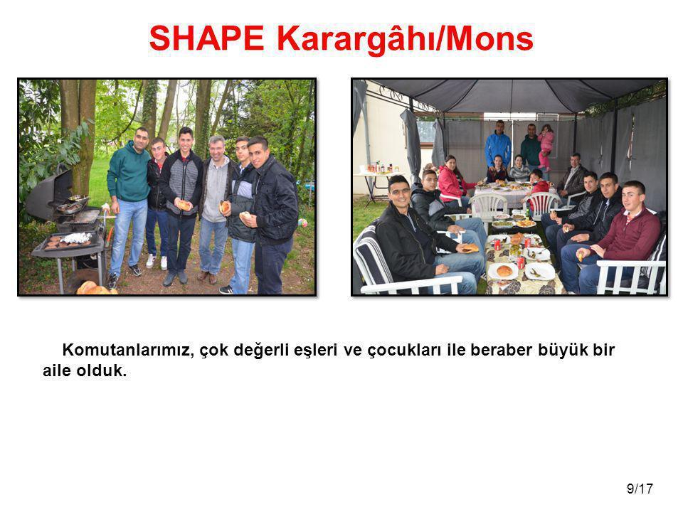 SHAPE Karargâhı/Mons Komutanlarımız, çok değerli eşleri ve çocukları ile beraber büyük bir aile olduk.