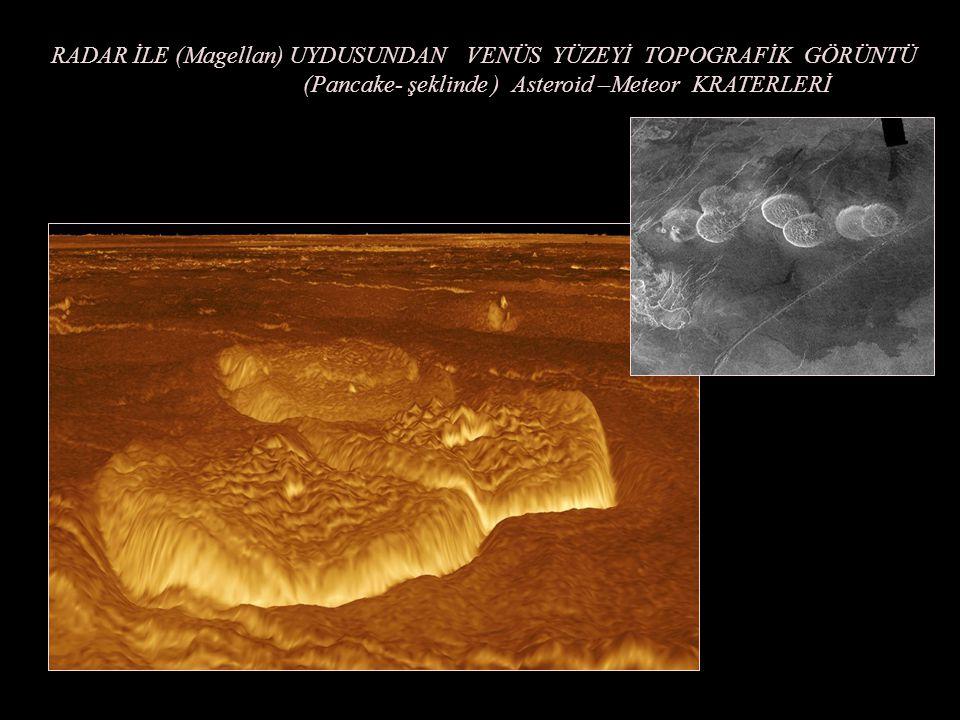 RADAR İLE (Magellan) UYDUSUNDAN VENÜS YÜZEYİ TOPOGRAFİK GÖRÜNTÜ