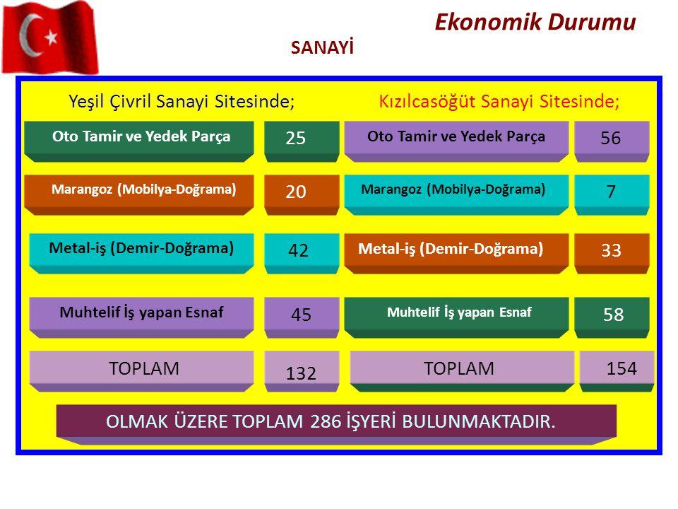 Ekonomik Durumu SANAYİ Yeşil Çivril Sanayi Sitesinde;