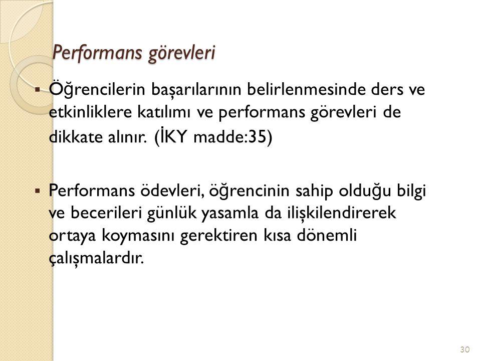 Performans görevleri
