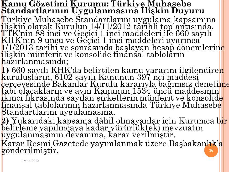 Karar Resmi Gazetede yayımlanmak üzere Başbakanlık'a gönderilmiştir.