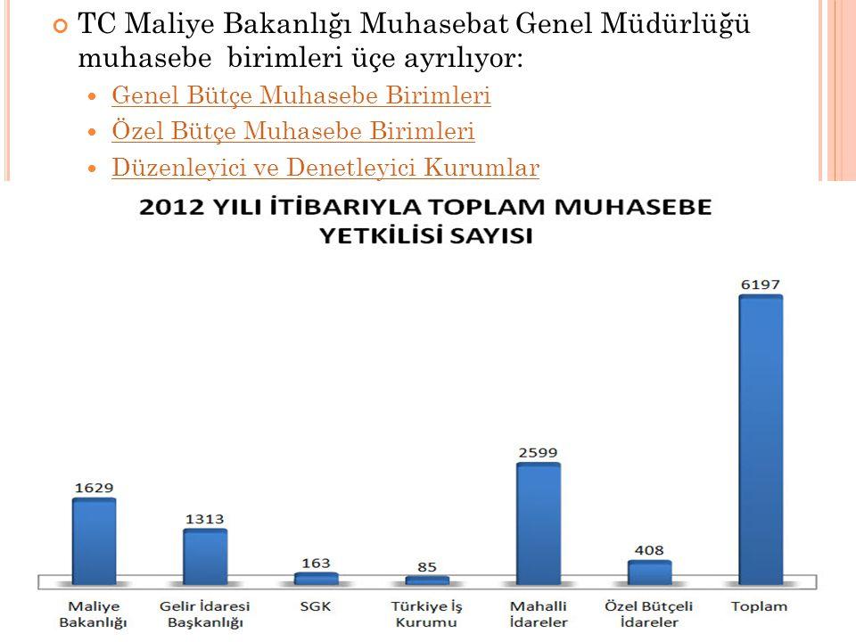 TC Maliye Bakanlığı Muhasebat Genel Müdürlüğü muhasebe birimleri üçe ayrılıyor: