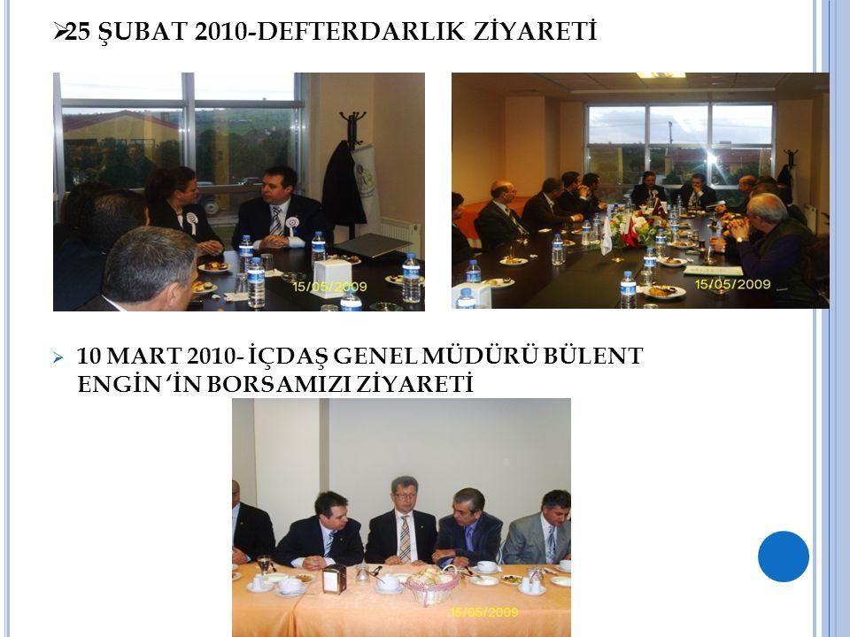 25 ŞUBAT 2010-DEFTERDARLIK ZİYARETİ