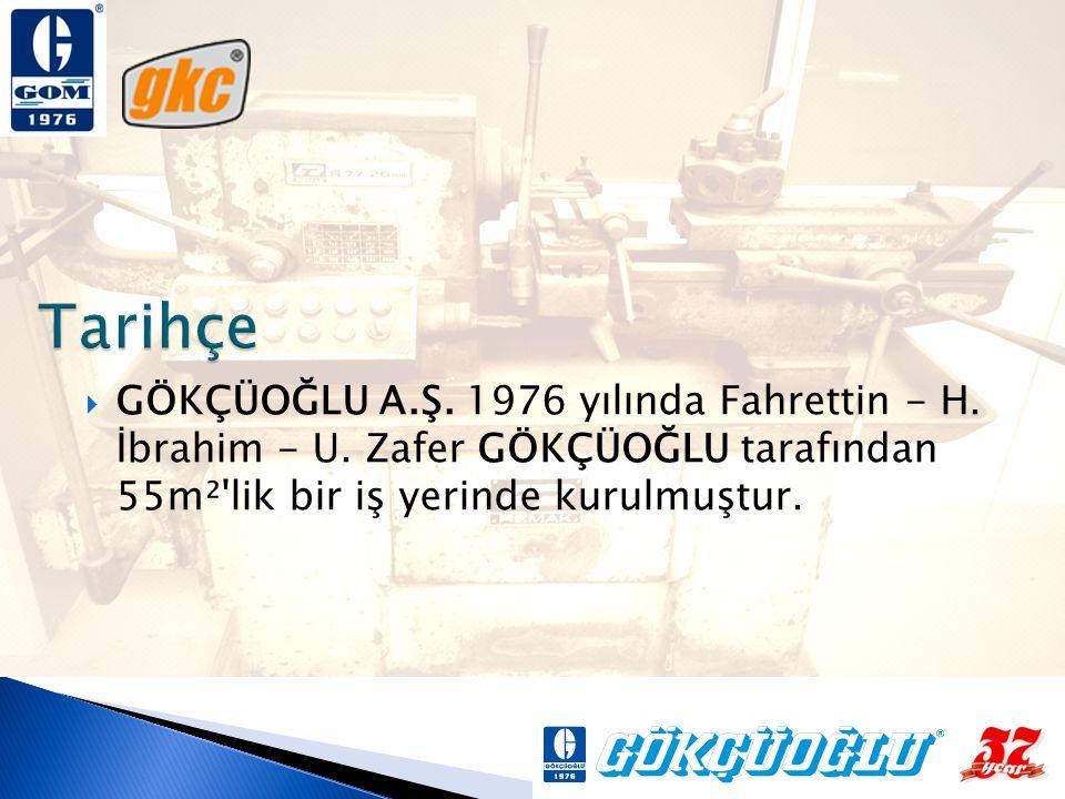 Tarihçe GÖKÇÜOĞLU A.Ş. 1976 yılında Fahrettin - H.