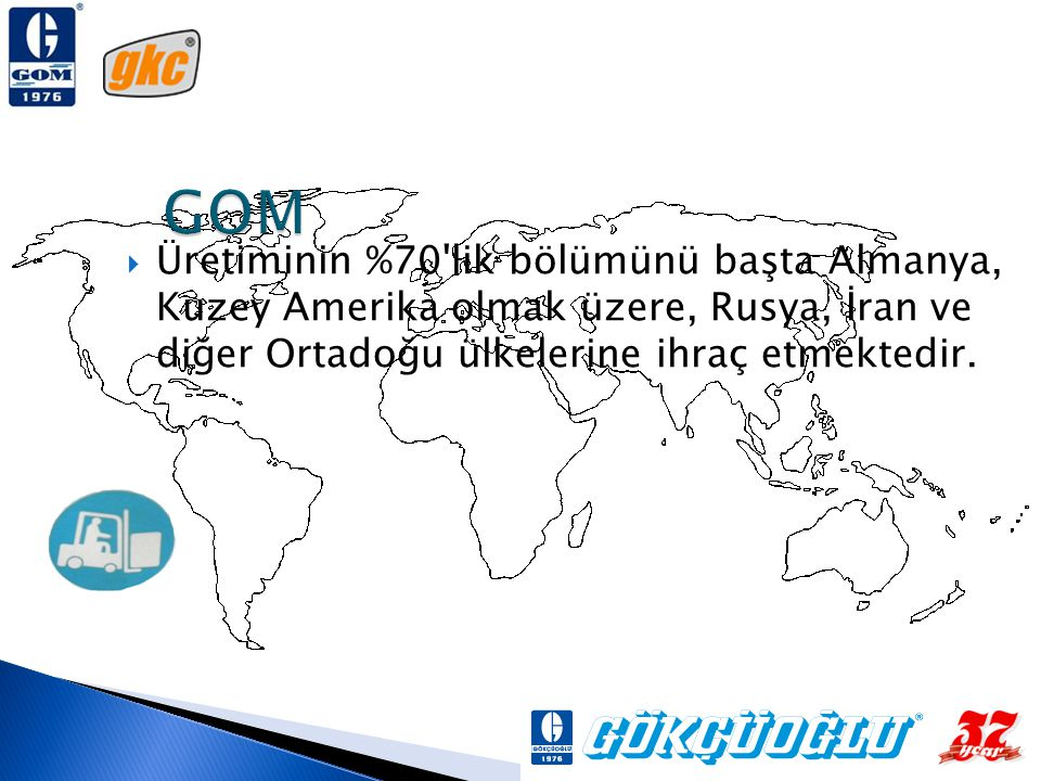 GOM Üretiminin %70 lik bölümünü başta Almanya, Kuzey Amerika olmak üzere, Rusya, İran ve diğer Ortadoğu ülkelerine ihraç etmektedir.