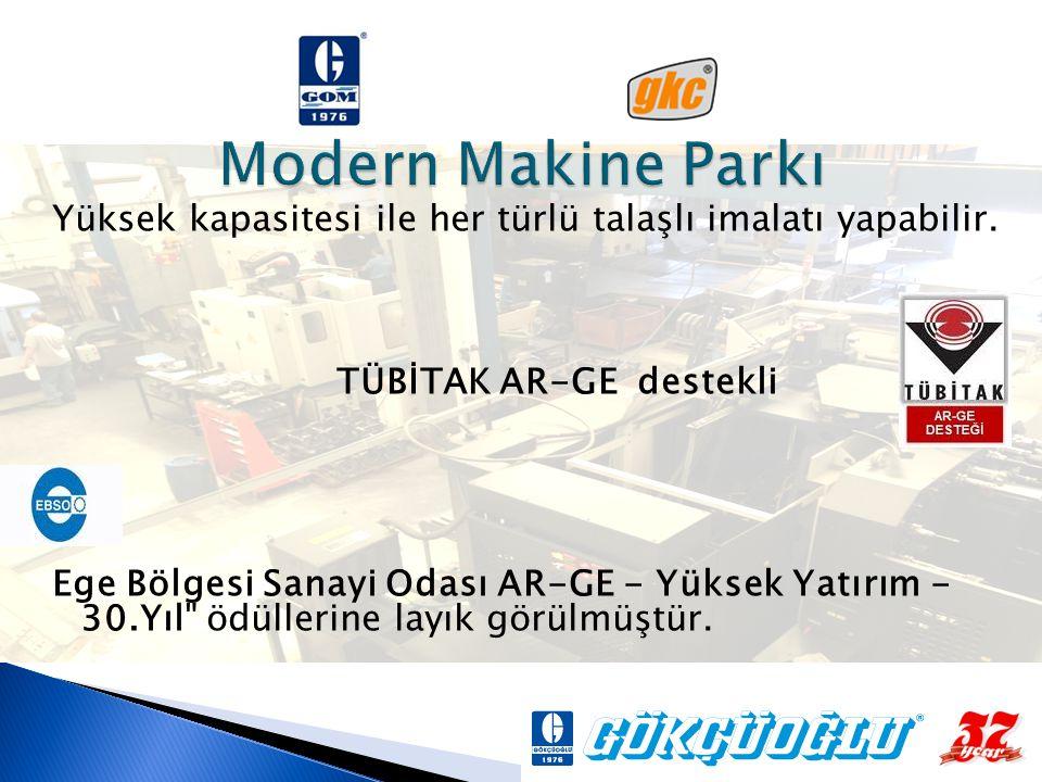 Modern Makine Parkı Yüksek kapasitesi ile her türlü talaşlı imalatı yapabilir. TÜBİTAK AR-GE destekli.