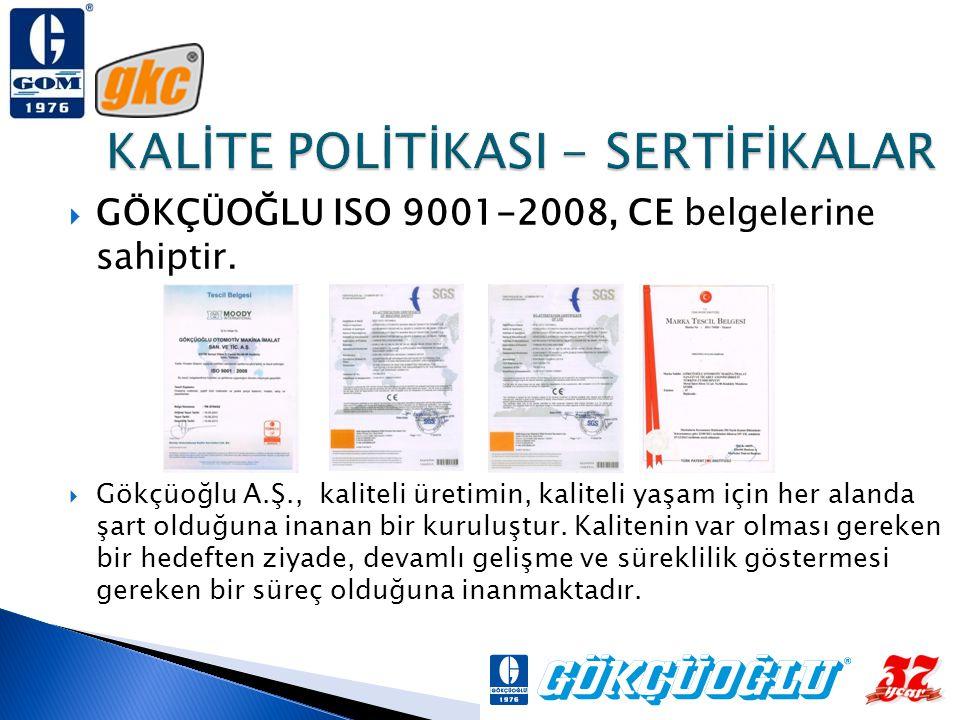 KALİTE POLİTİKASI - SERTİFİKALAR