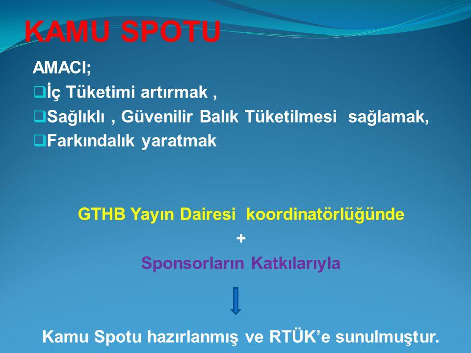 GTHB Yayın Dairesi koordinatörlüğünde Sponsorların Katkılarıyla