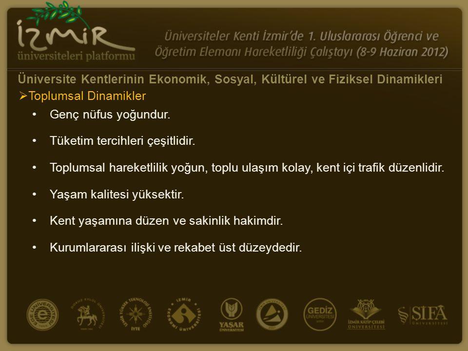 Üniversite Kentlerinin Ekonomik, Sosyal, Kültürel ve Fiziksel Dinamikleri