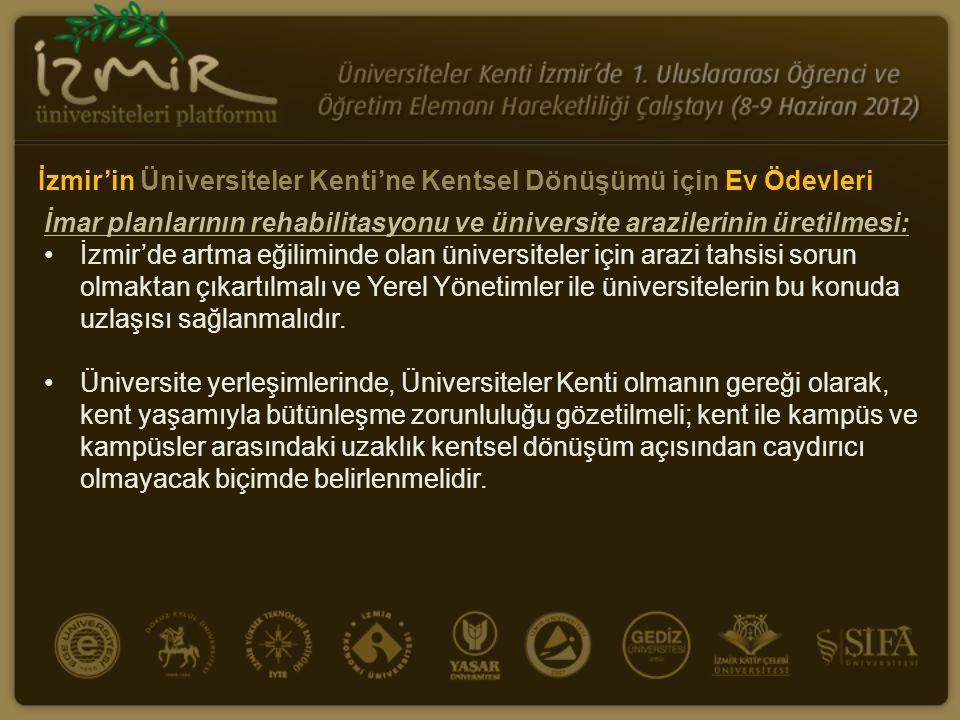 İzmir'in Üniversiteler Kenti'ne Kentsel Dönüşümü için Ev Ödevleri