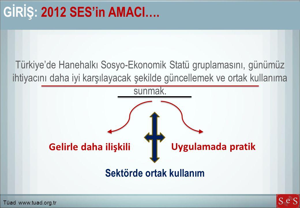 GİRİŞ: 2012 SES'in AMACI….