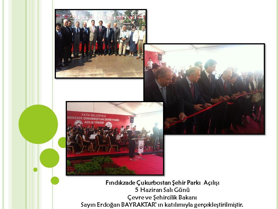 Fındıkzade Çukurbostan Şehir Parkı Açılışı 5 Haziran Salı Günü