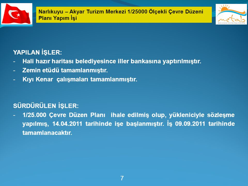 Hali hazır haritası belediyesince iller bankasına yaptırılmıştır.