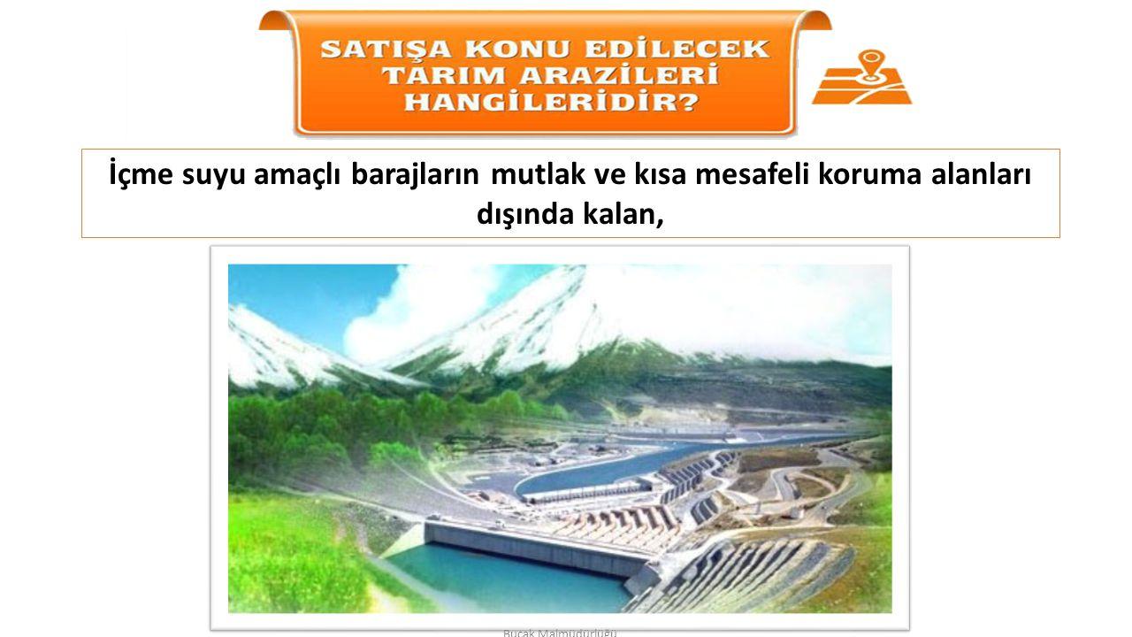 İçme suyu amaçlı barajların mutlak ve kısa mesafeli koruma alanları dışında kalan,