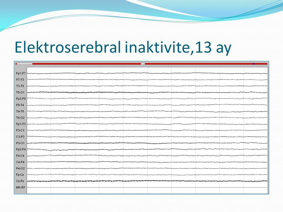 Elektroserebral inaktivite,13 ay